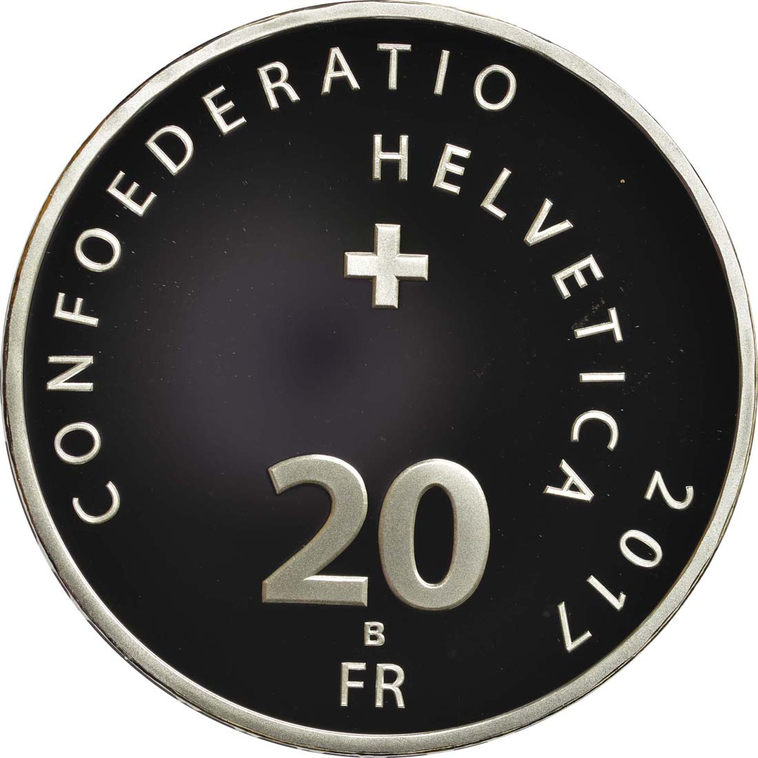 Rückseite :Schweiz : 20 Franken Jodeln  2017 PP