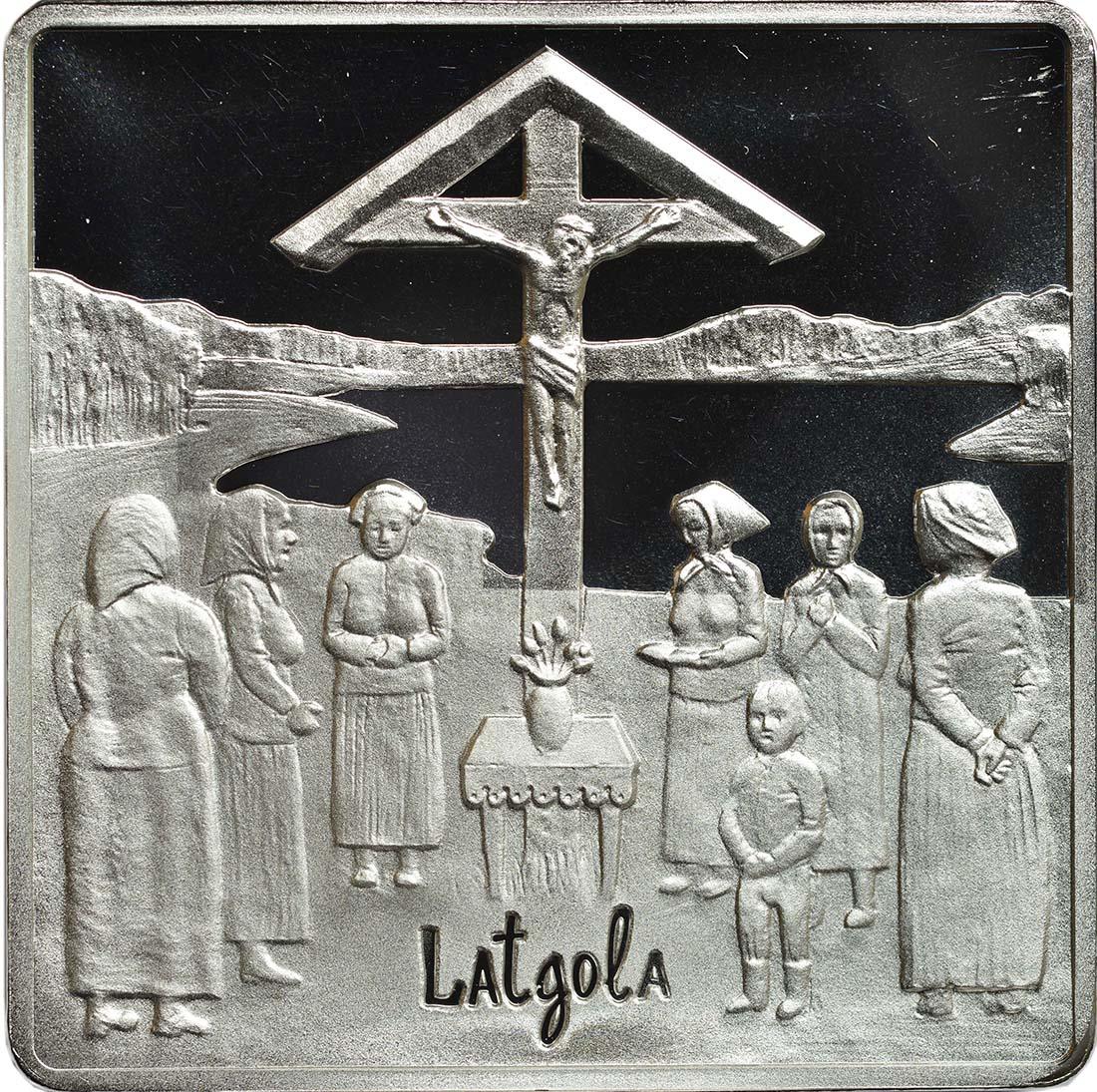 Rückseite:Lettland : 5 Euro Latgale lettischer Kongress  2017 PP