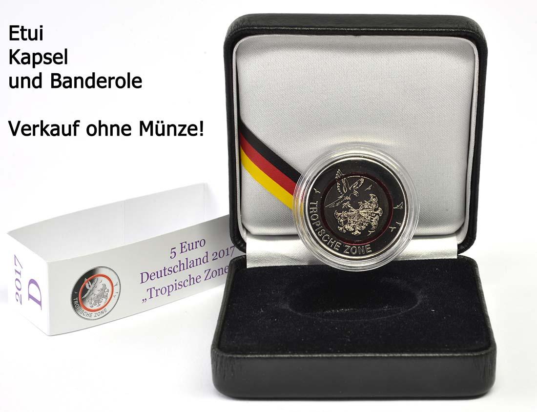 Lieferumfang:Deutschland :   Kassette inkl. Kapsel mit Banderole A OHNE Münze  2017 bfr