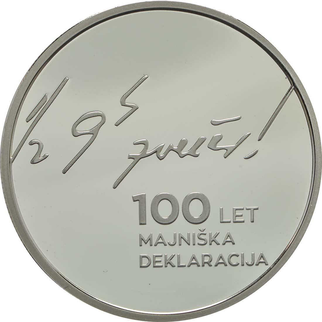 Rückseite:Slowenien : 30 Euro 100 Jahre Mai Deklaration  2017 PP