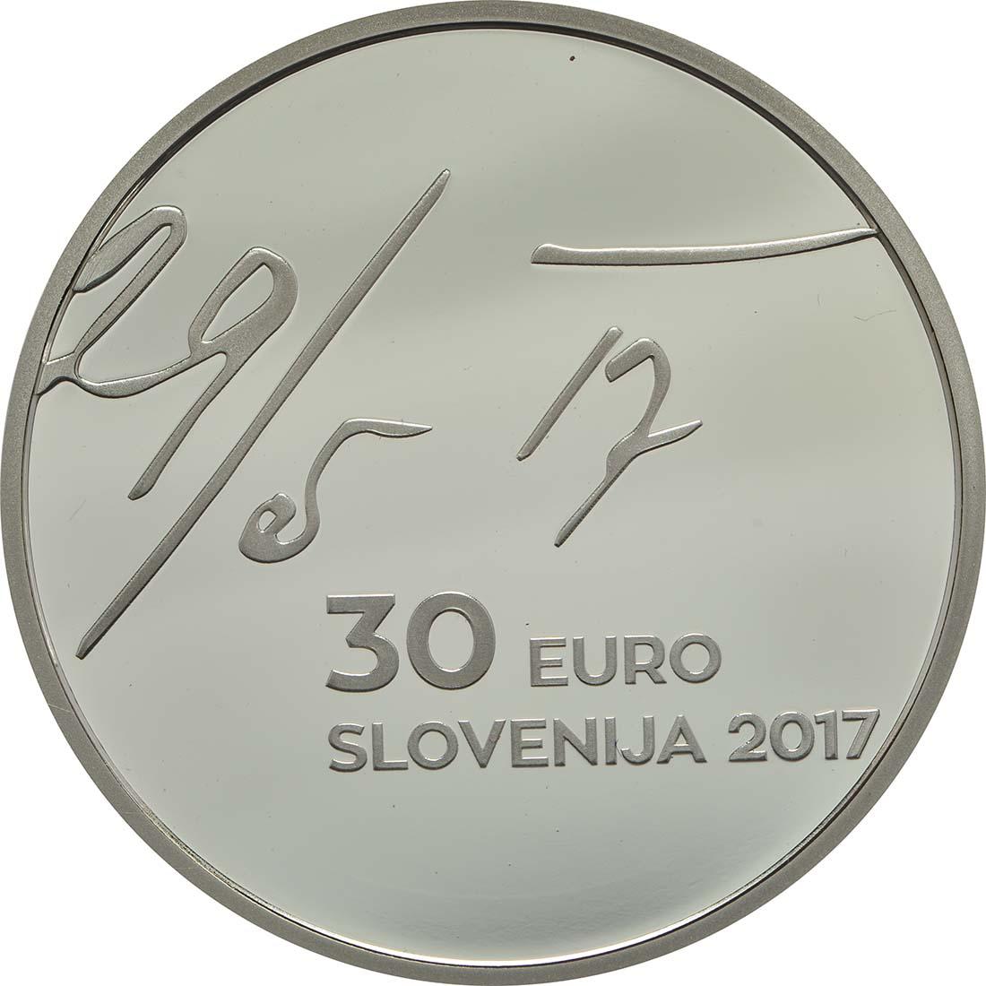 Vorderseite:Slowenien : 30 Euro 100 Jahre Mai Deklaration  2017 PP