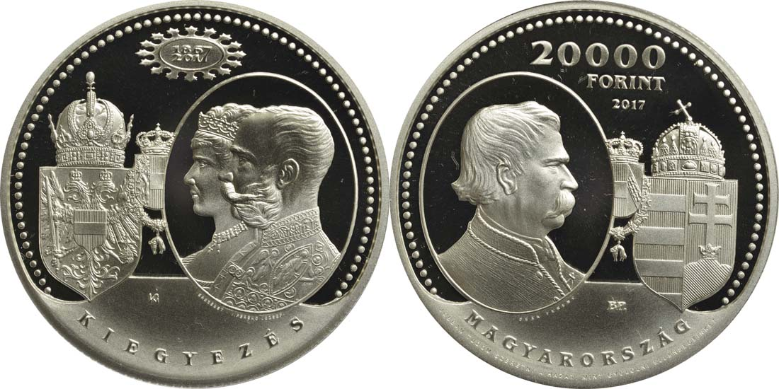 Lieferumfang:Ungarn : 20000 Forint 150 Jahre Österr.-Ungarn Ausgleich 1867  2017 PP