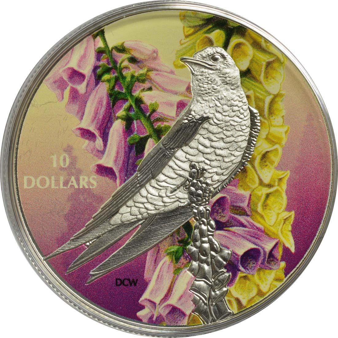 Vorderseite:Kanada : 10 Dollar Vögel in farbenfroher Natur - Purpurschwalbe  2017 PP