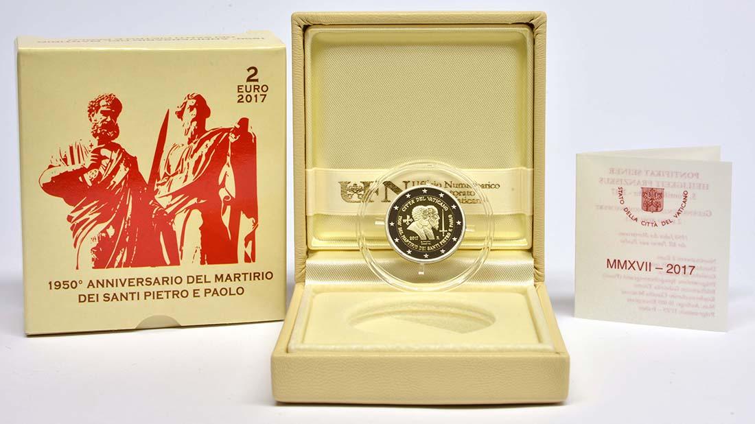 Lieferumfang:Vatikan : 2 Euro 1950. Jahrestag des Martyriums von St. Peter und Paul  2017 PP