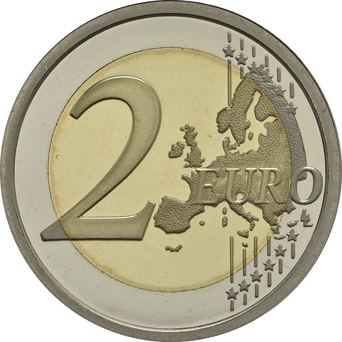 Vorderseite:Vatikan : 2 Euro 1950. Jahrestag des Martyriums von St. Peter und Paul  2017 PP