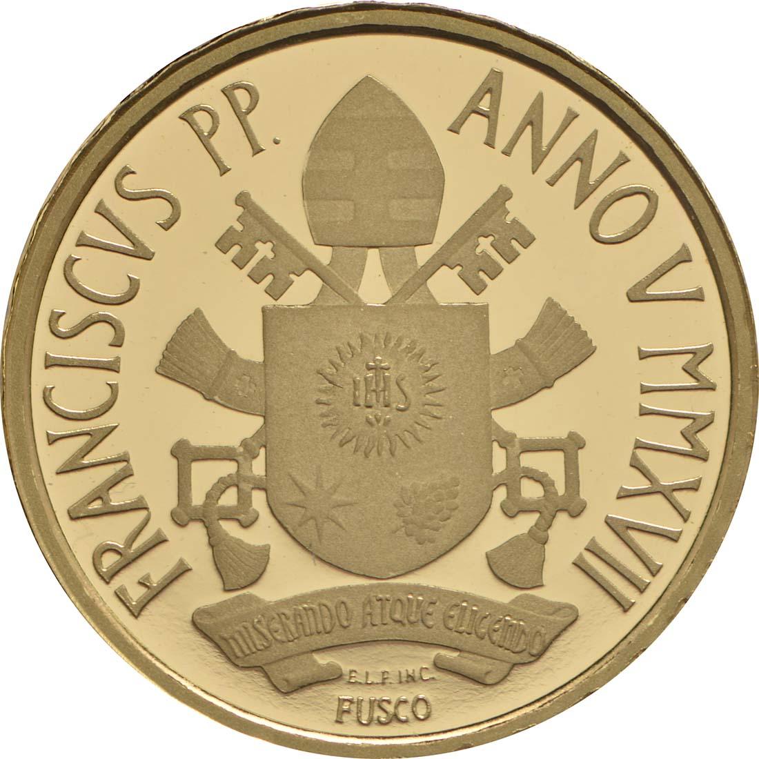 Rückseite:Vatikan : 10 Euro Die Taufe - MMXVII  2017 PP