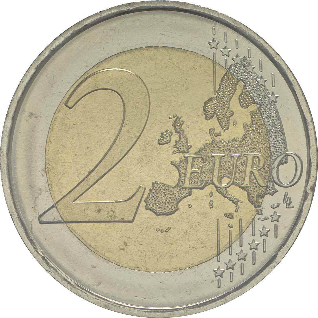 Vorderseite:Andorra : 2 Euro 25 Jahre öffentlich-rechtlicher Rundfunk in Andorra  2016 Stgl.