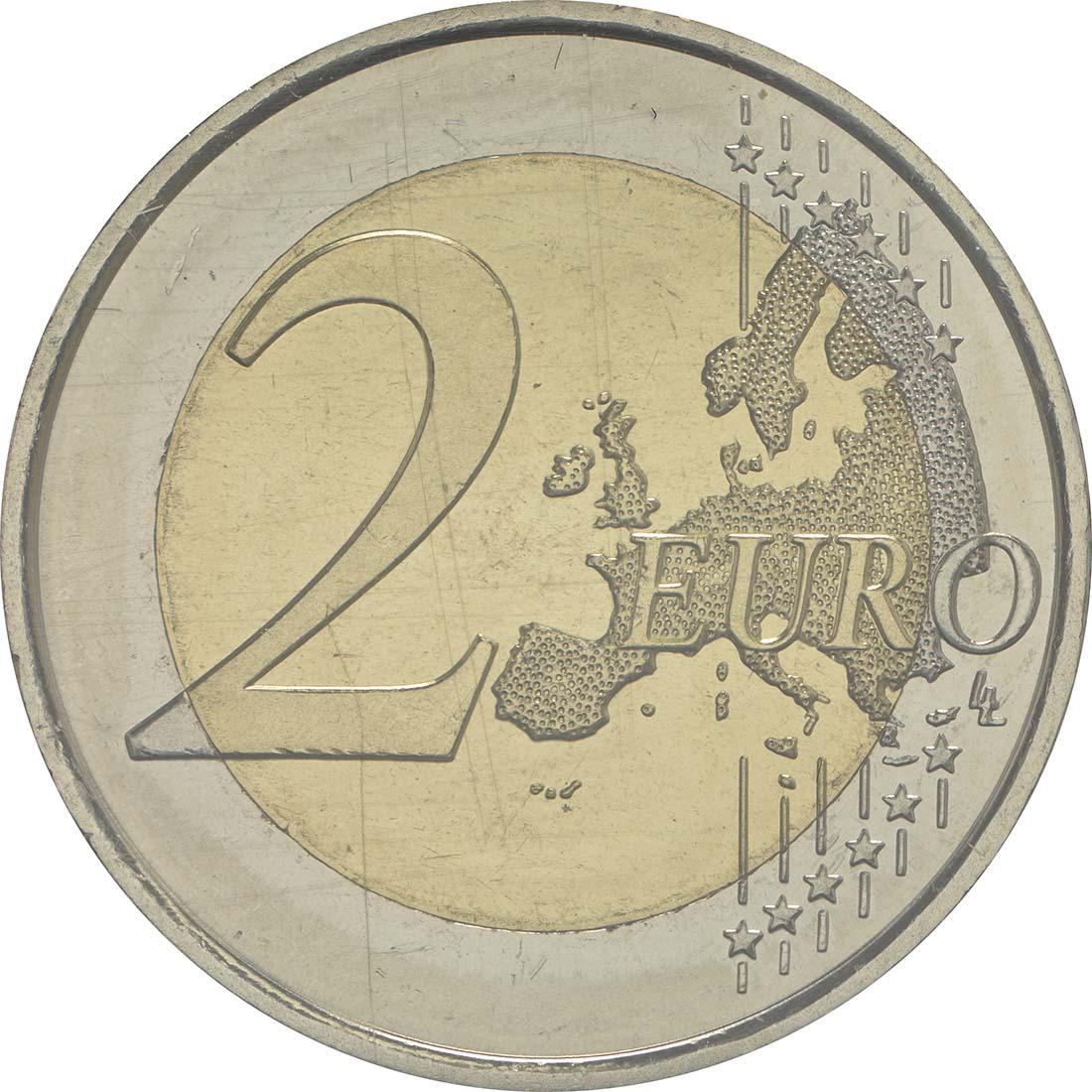 Vorderseite:Andorra : 2 Euro 150-jähriges Jubiläum der Neuen Reform von 1866  2016 bfr