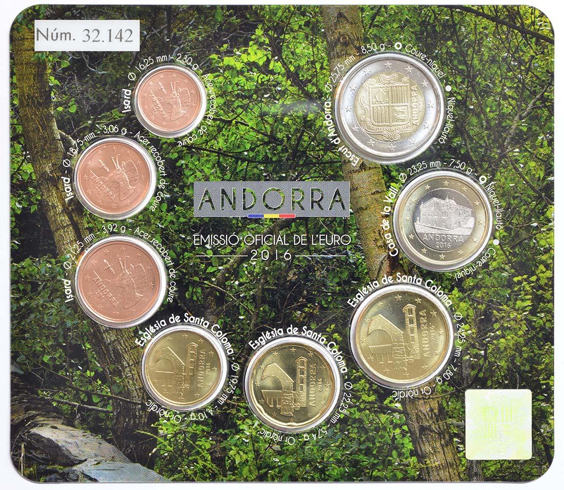 Rückseite :Andorra : 3,88 Euro KMS Andorra  2016 bfr