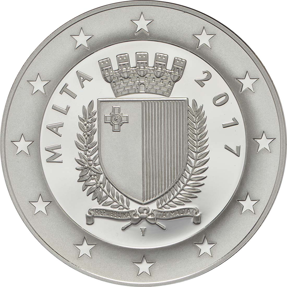 Rückseite:Malta : 10 Euro Operation Pedestal - Santa Maria Convoy  2017 PP