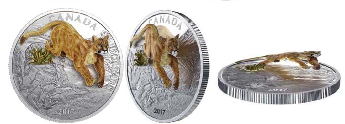 Lieferumfang:Kanada : 20 Dollar Springender Puma - 3D  2017 PP