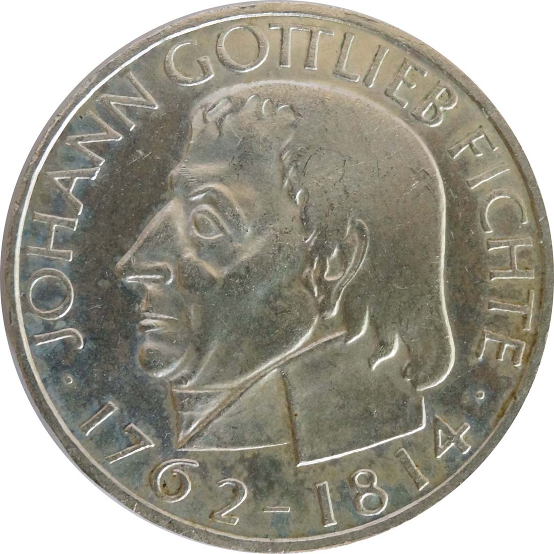 Vorderseite:Deutschland : 5 DM Fichte  1964 vz/Stgl.