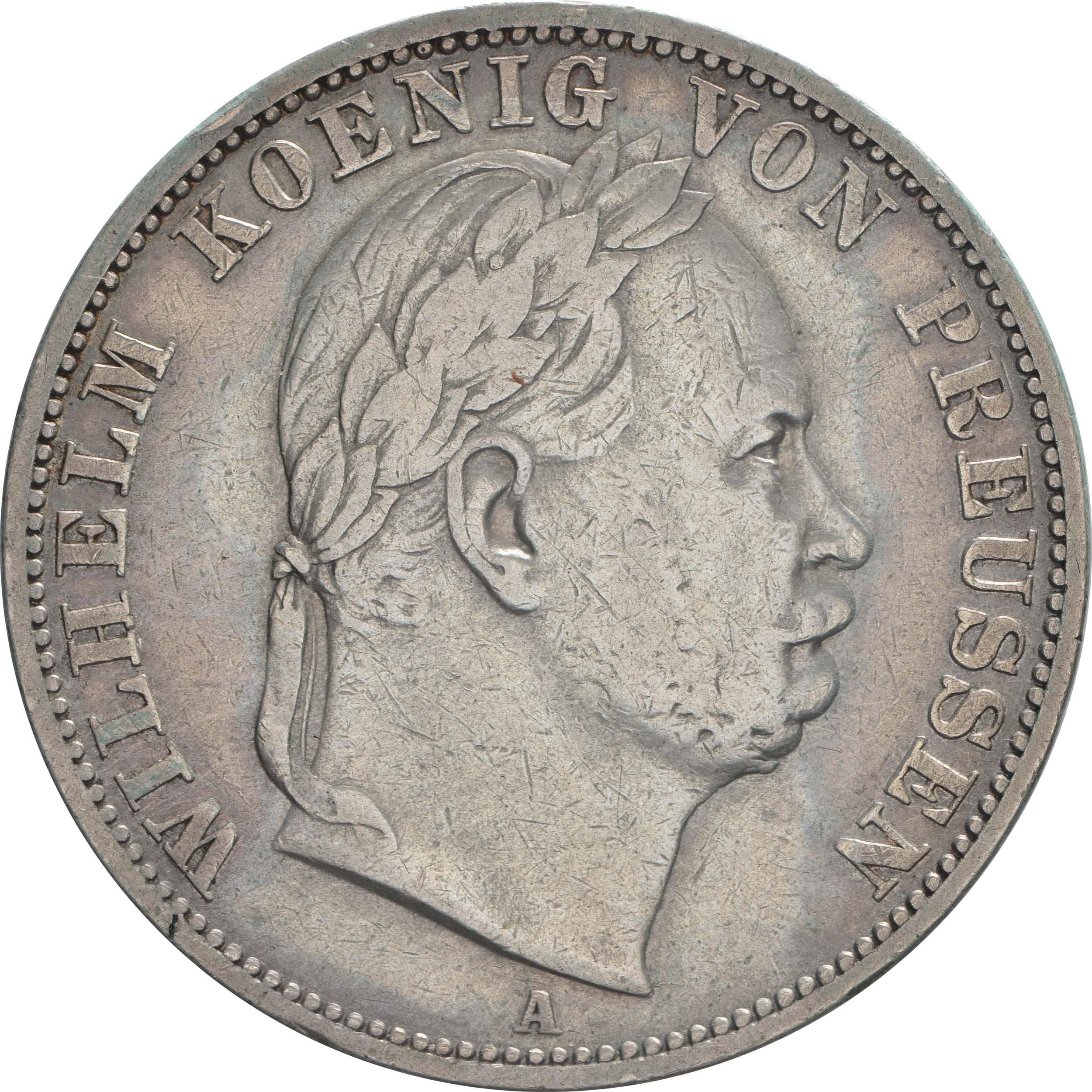 Vorderseite:Deutschland : 1 Vereinstaler  patina, winz. Rs. 1866 vz.