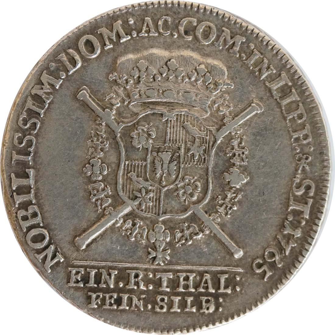 Rückseite :Deutschland : 1 Dicktaler Friedr. Ernst 1748 - 77  1765 f.vz.
