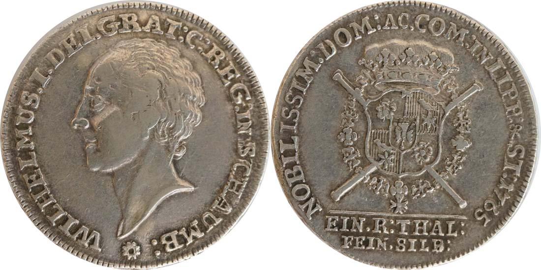 Deutschland : 1 Dicktaler Friedr. Ernst 1748 - 77  1765 f.vz.