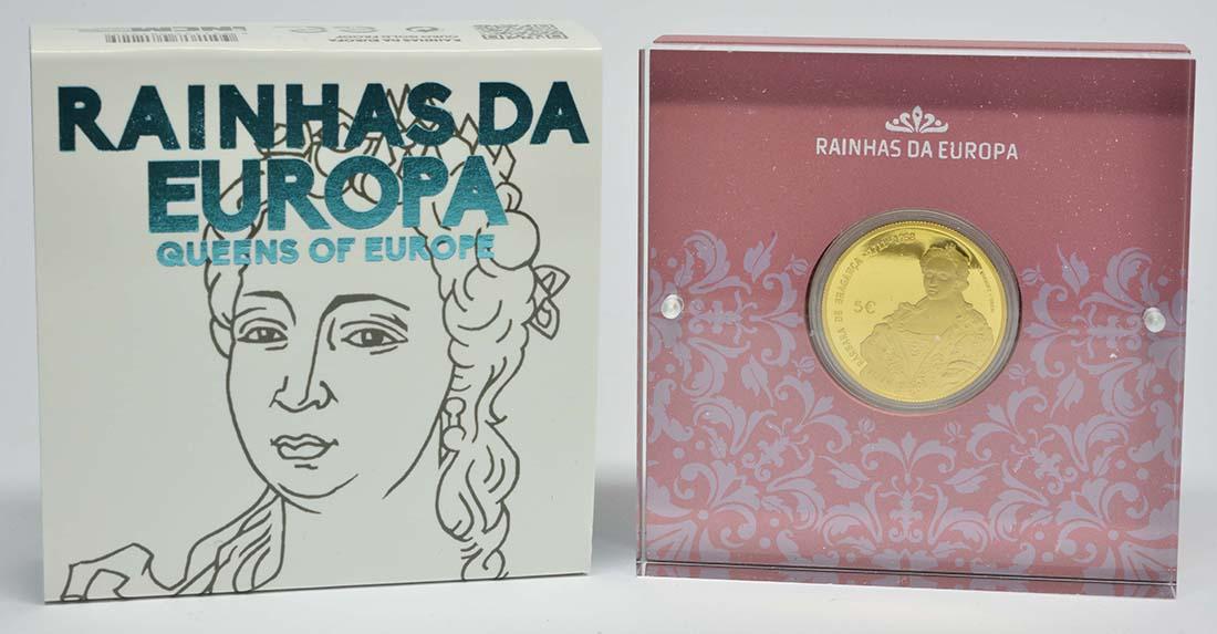 Lieferumfang:Portugal : 5 Euro Maria Barbara  2017 PP