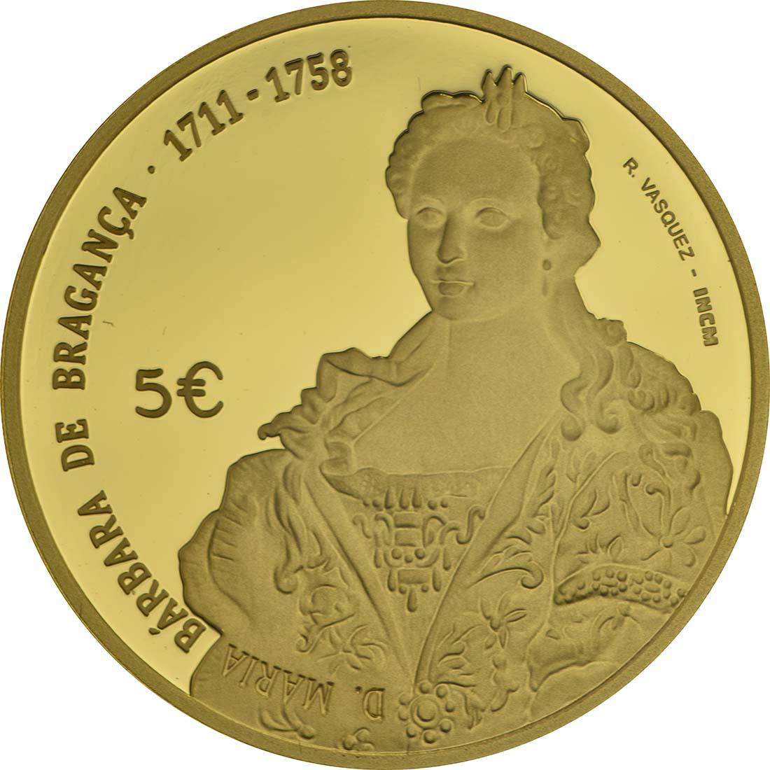 Vorderseite:Portugal : 5 Euro Maria Barbara  2017 PP