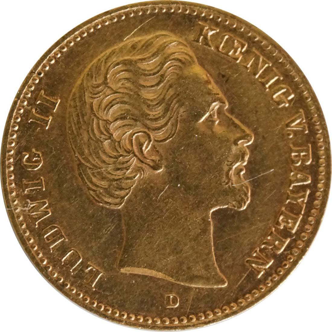 Vorderseite :Deutschland : 5 Mark   1877 ss/vz.