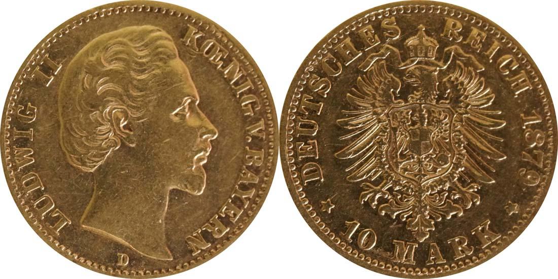 Deutschland : 10 Mark   1879 ss.