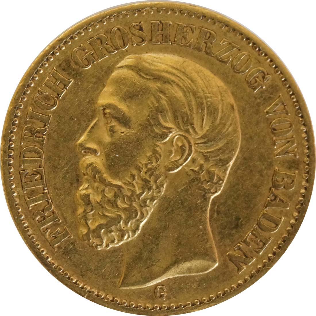 Vorderseite:Deutschland : 20 Mark  winz. Rs. 1872 ss.