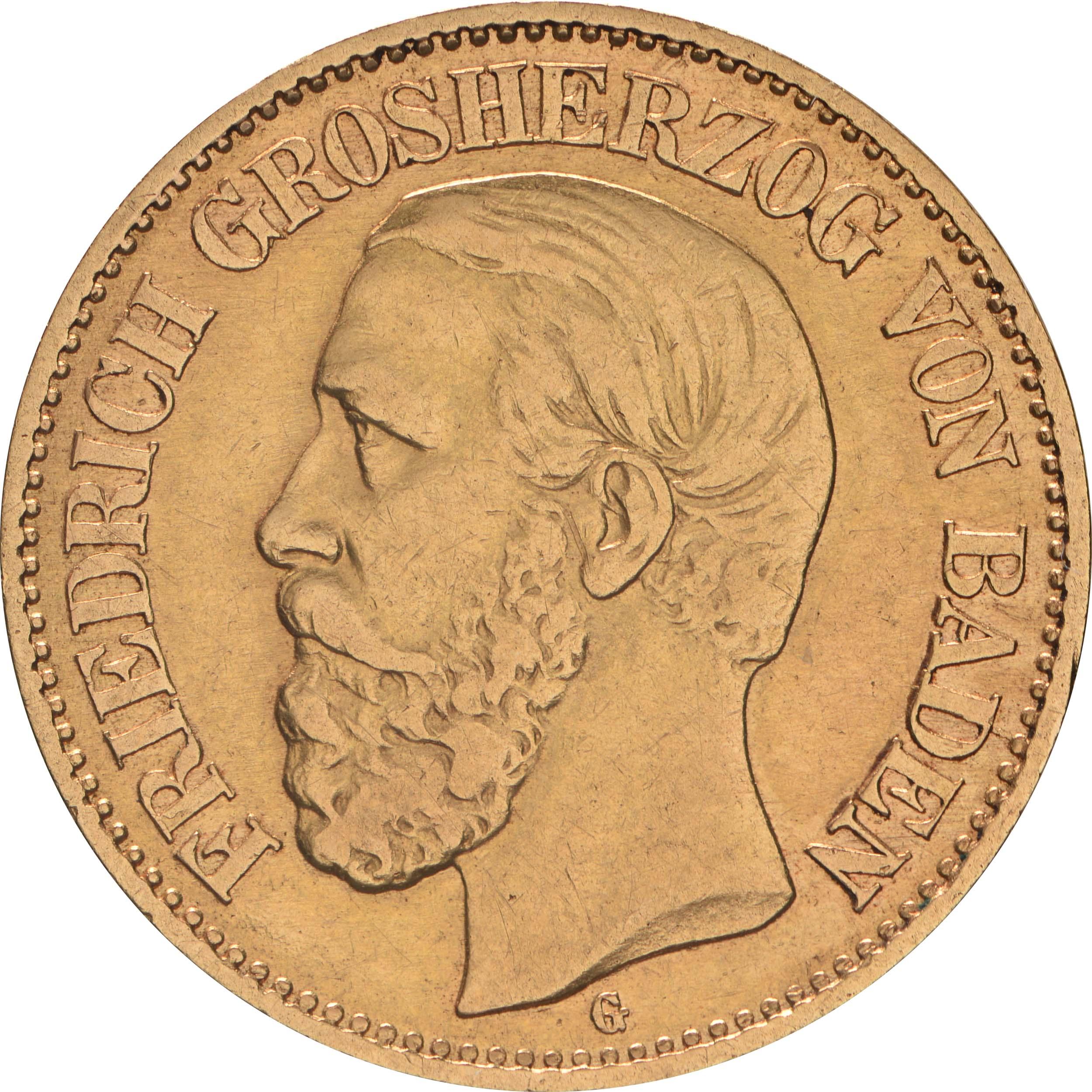 Vorderseite :Deutschland : 10 Mark   1876 ss.