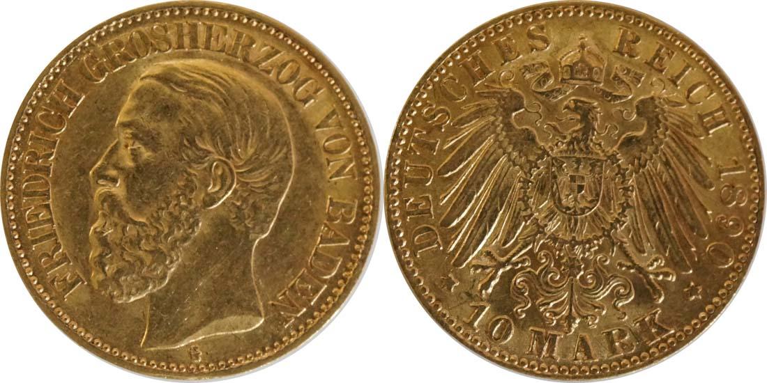 Deutschland : 10 Mark   1890 ss/vz.