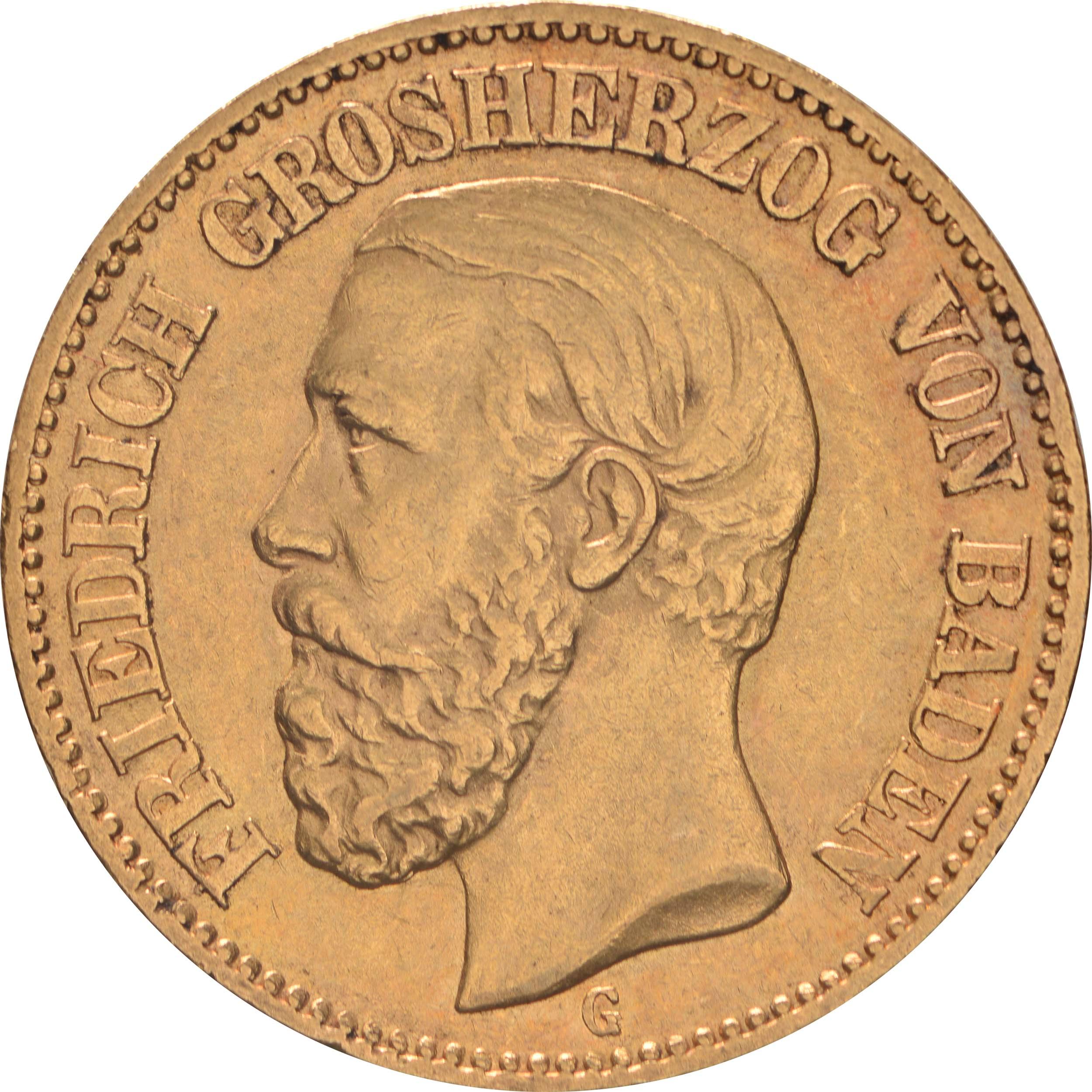 Vorderseite:Deutschland : 20 Mark   1894 ss/vz.