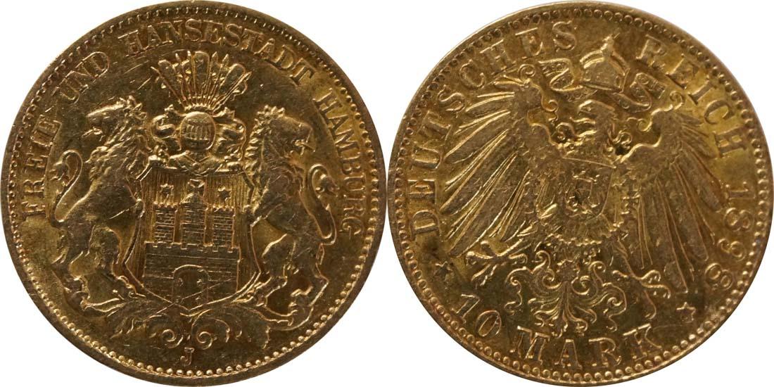 Deutschland : 10 Mark   1898 vz.