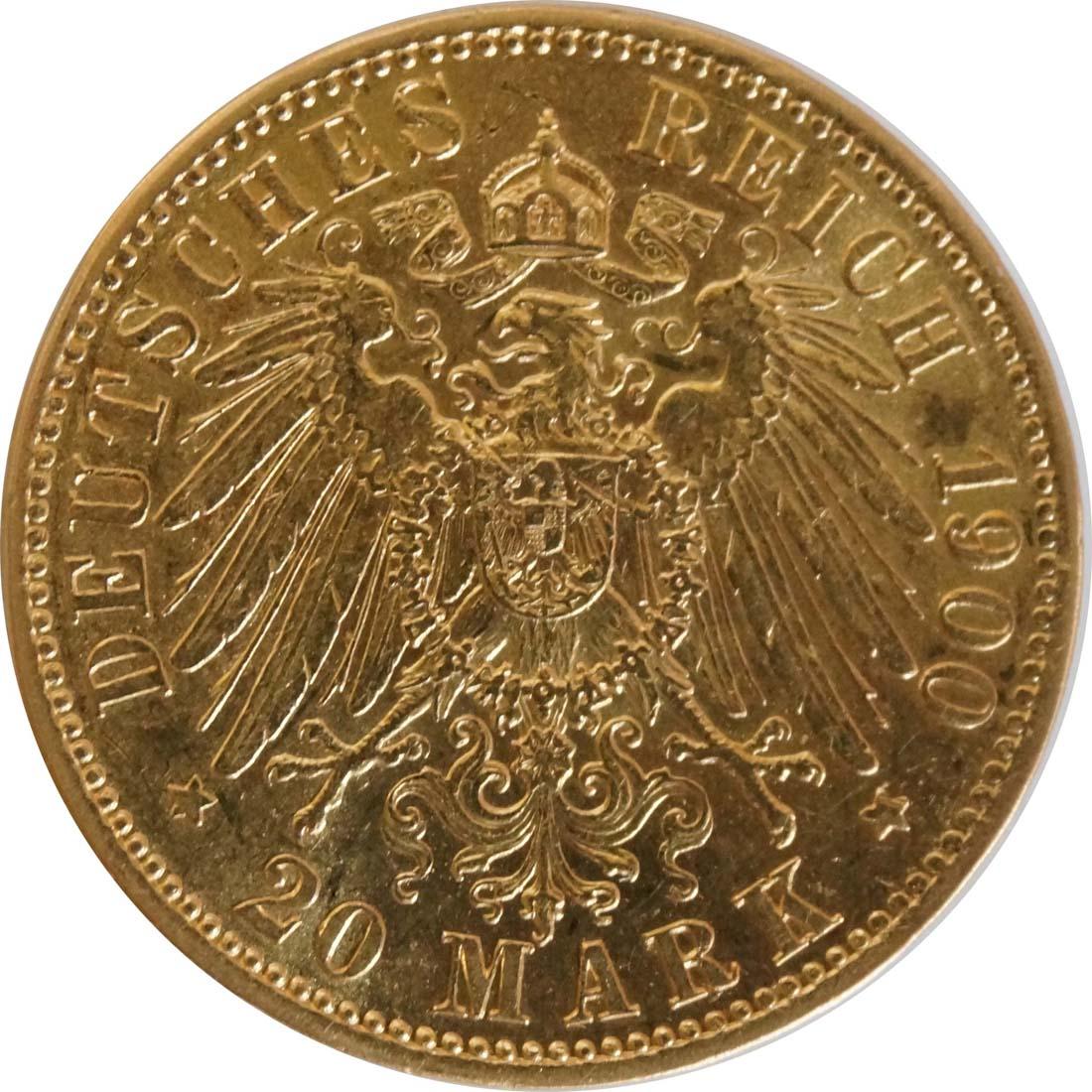 Rückseite:Deutschland : 20 Mark   1900 ss.
