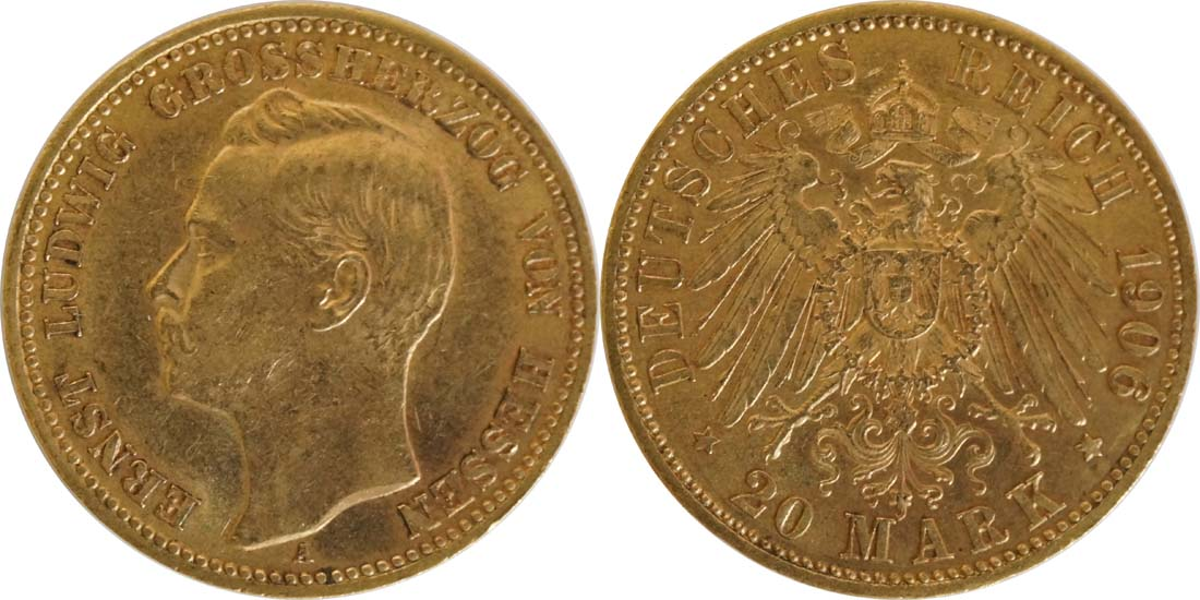 Deutschland : 20 Mark   1906 vz.