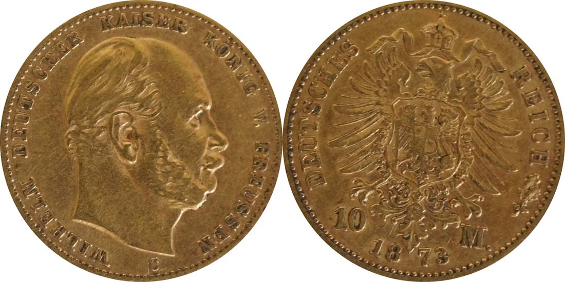 Übersicht:Deutschland : 10 Mark   1873 f.ss