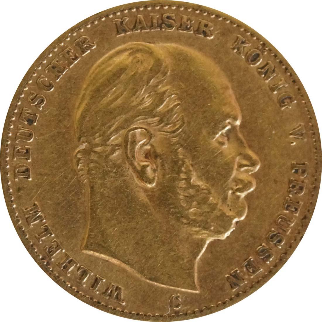 Vorderseite:Deutschland : 10 Mark   1873 f.ss