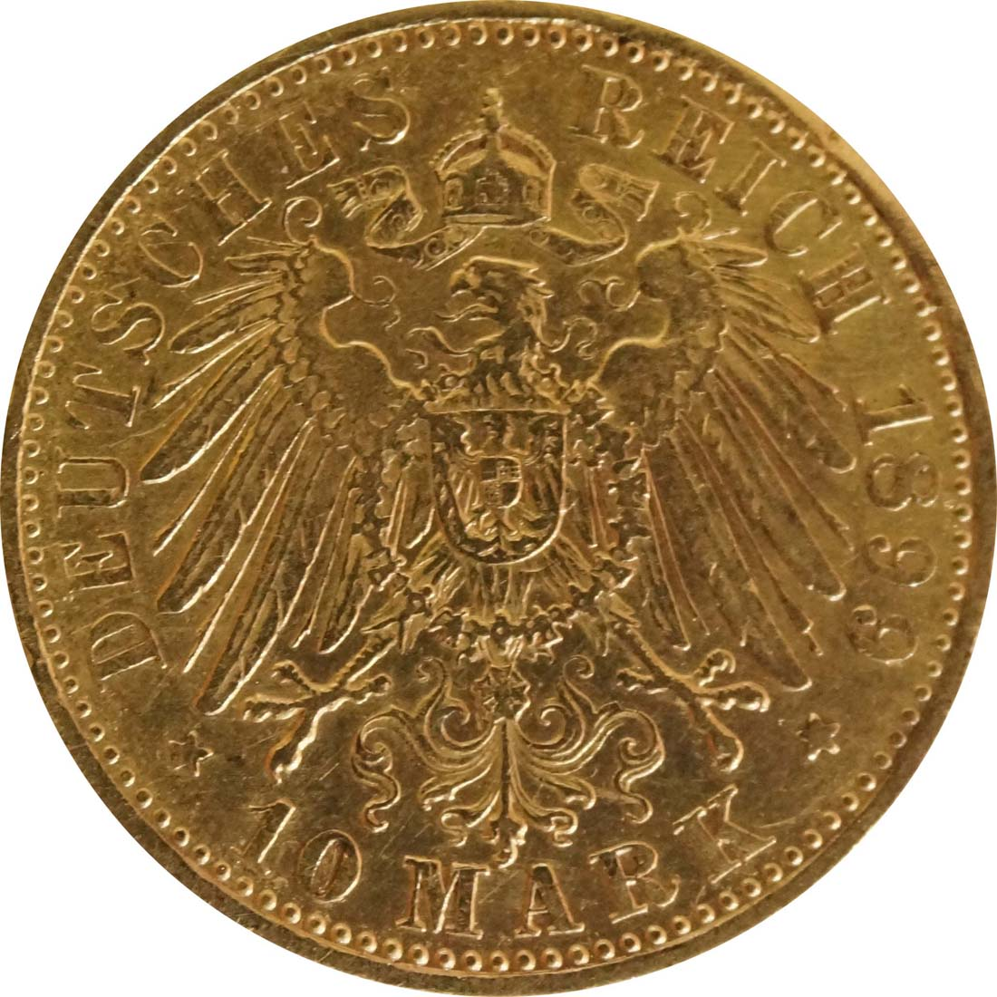 Rückseite:Deutschland : 10 Mark   1899 ss.