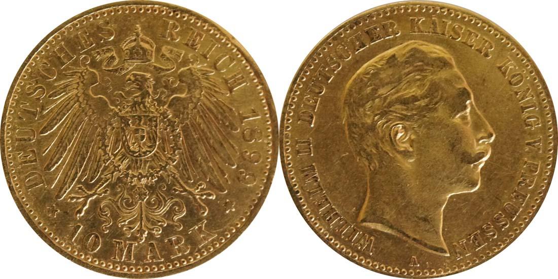 Lieferumfang:Deutschland : 10 Mark   1899 ss.