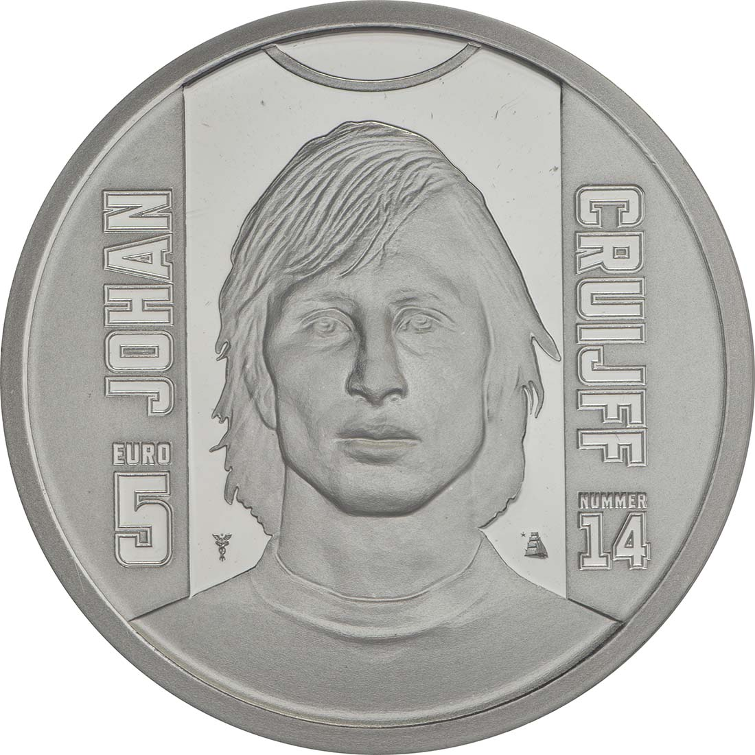 Vorderseite:Niederlande : 5 Euro Johan Cruijff  2017 PP