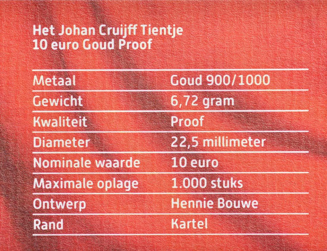 Zertifikat:Niederlande : 10 Euro Johan Cruijff  2017 PP