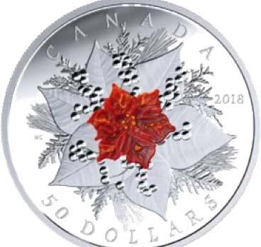 Lieferumfang:Kanada : 50 Dollar Weihnachtsglanz - mit Muranoglas  2017 PP