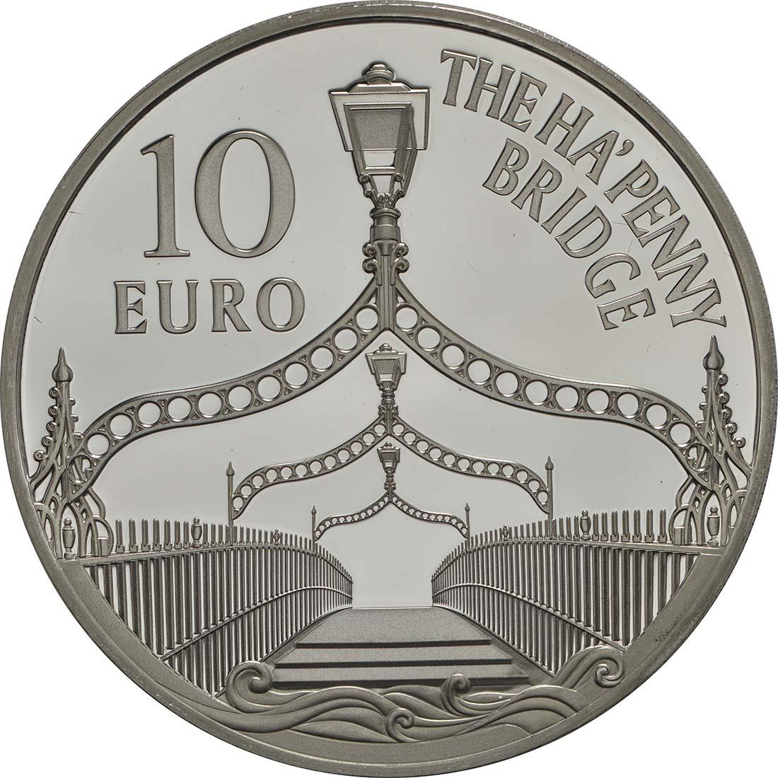 Rückseite:Irland : 10 Euro Ha Penny Brücke  2017 PP