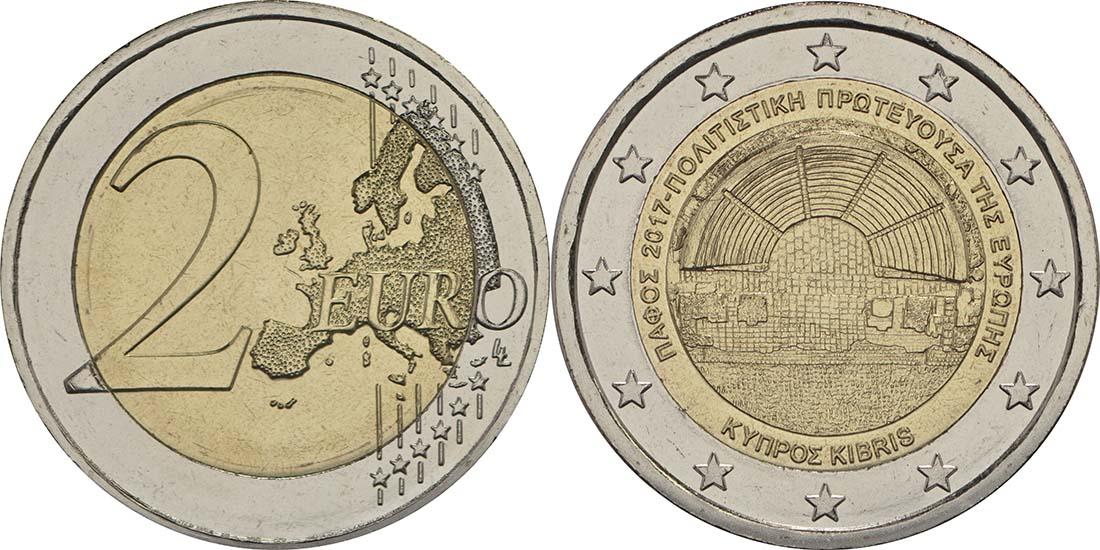 Lieferumfang:Zypern : 2 Euro Kulturhauptstadt Paphos  2017 bfr