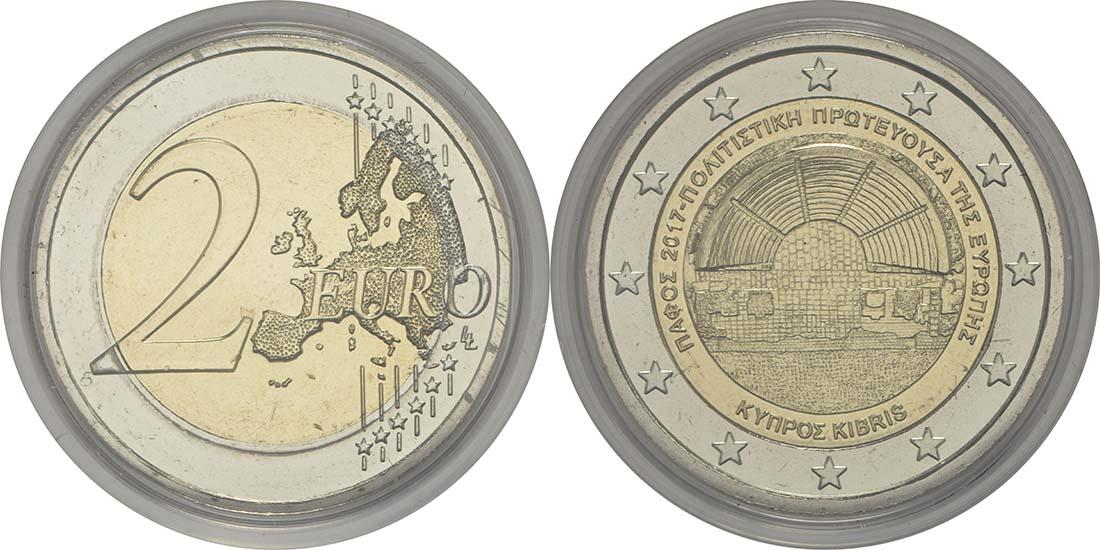 Lieferumfang:Zypern : 2 Euro Kulturhauptstadt Paphos  2017 Stgl.