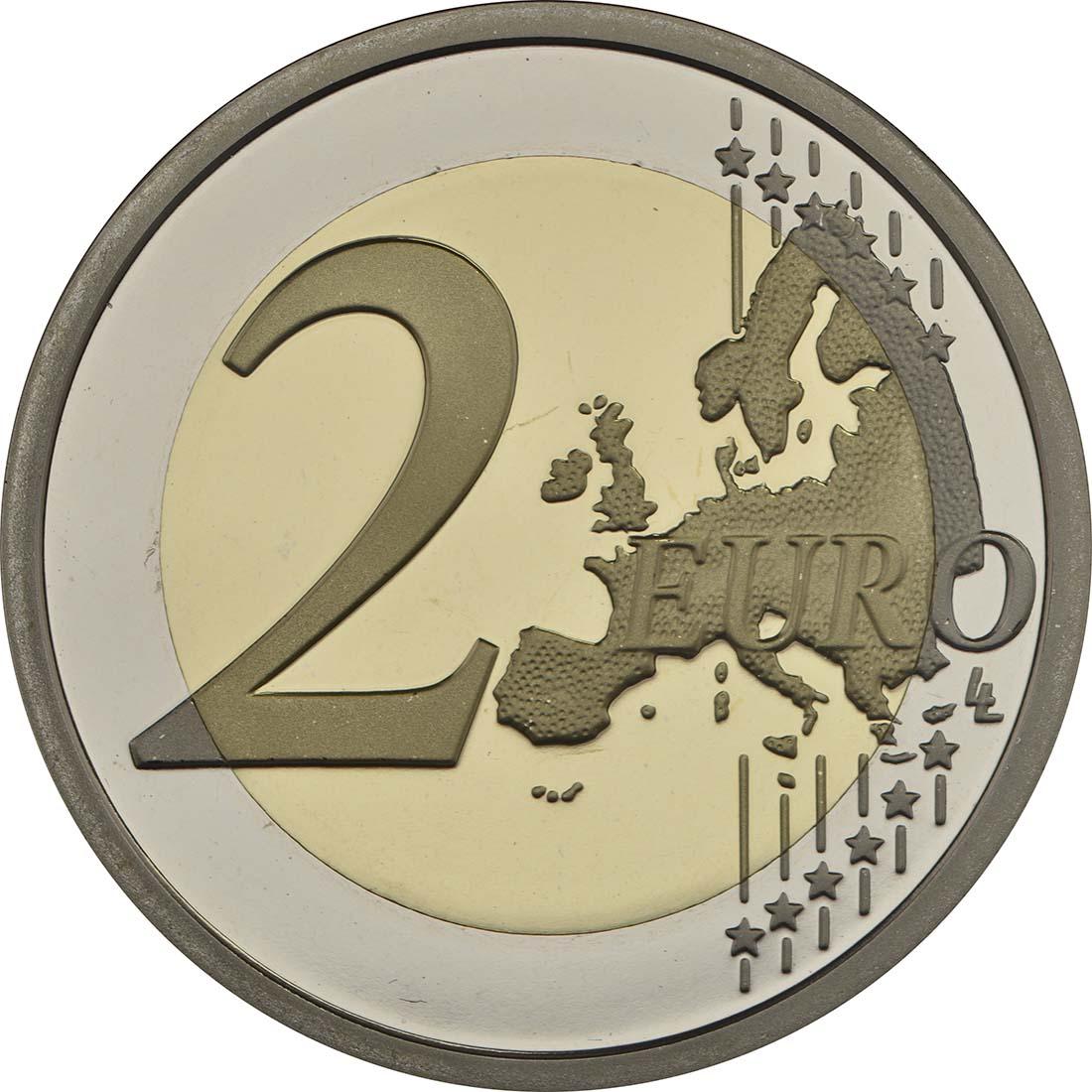 2 Euro Gedenkmünzen in Polierter Platte Qualität