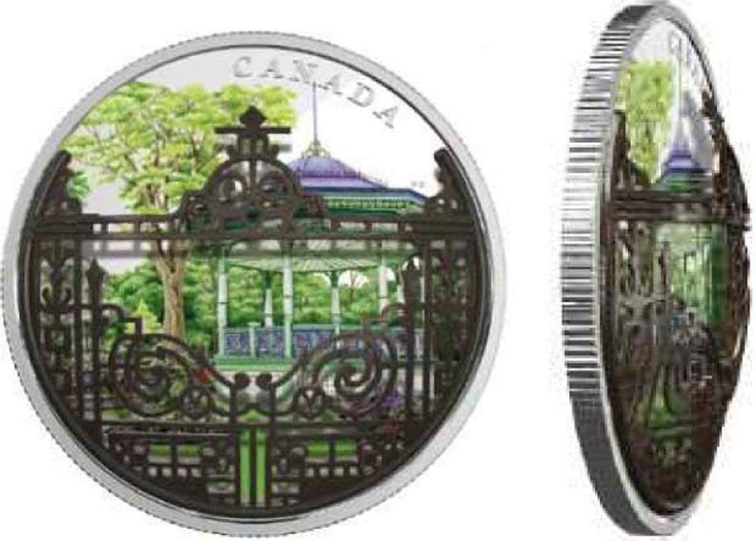 Kanada : 30 Dollar Gärten von Halifax - mit Filigree Bronzetor  2018 PP