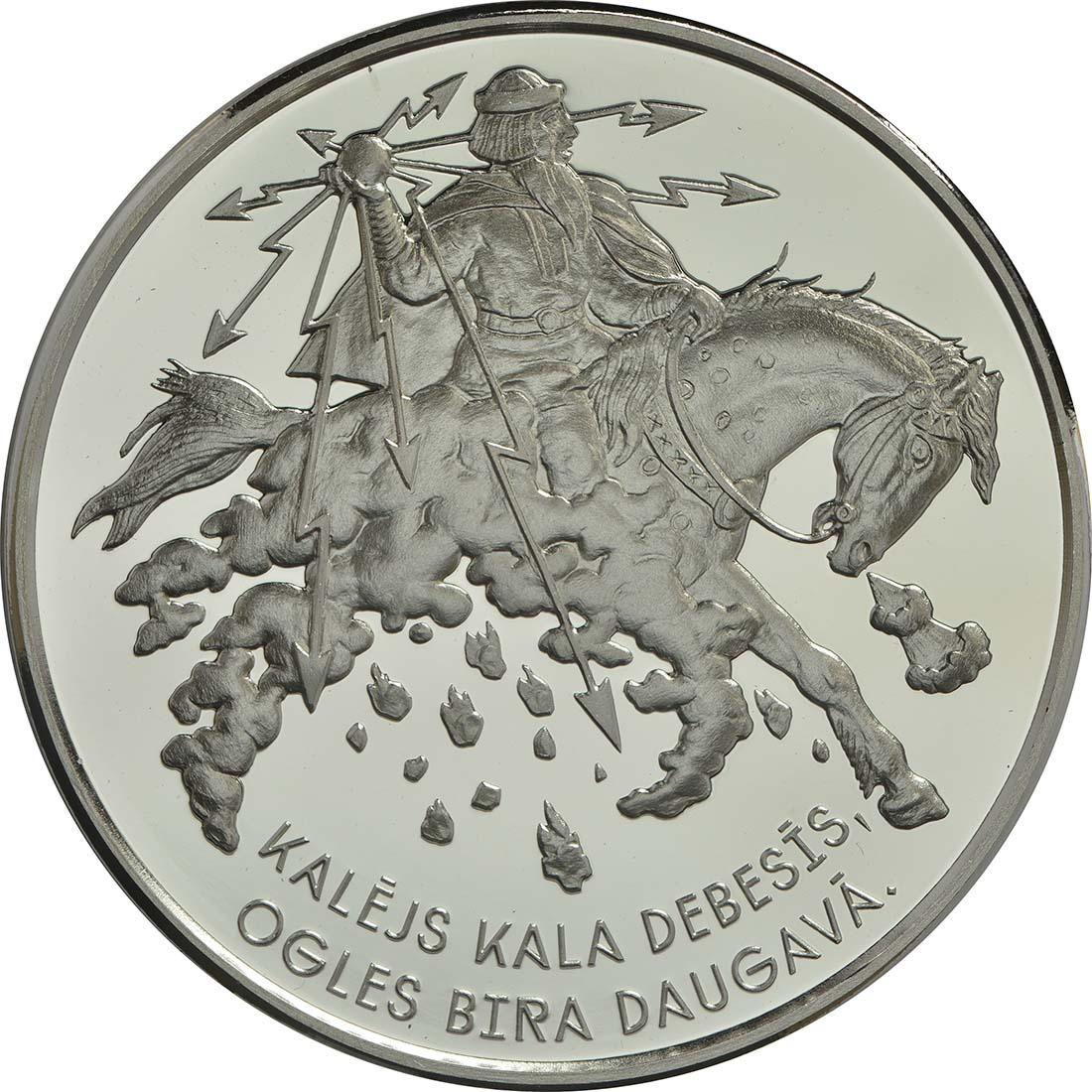 Vorderseite:Lettland : 5 Euro Lettische Folklore  2017 PP