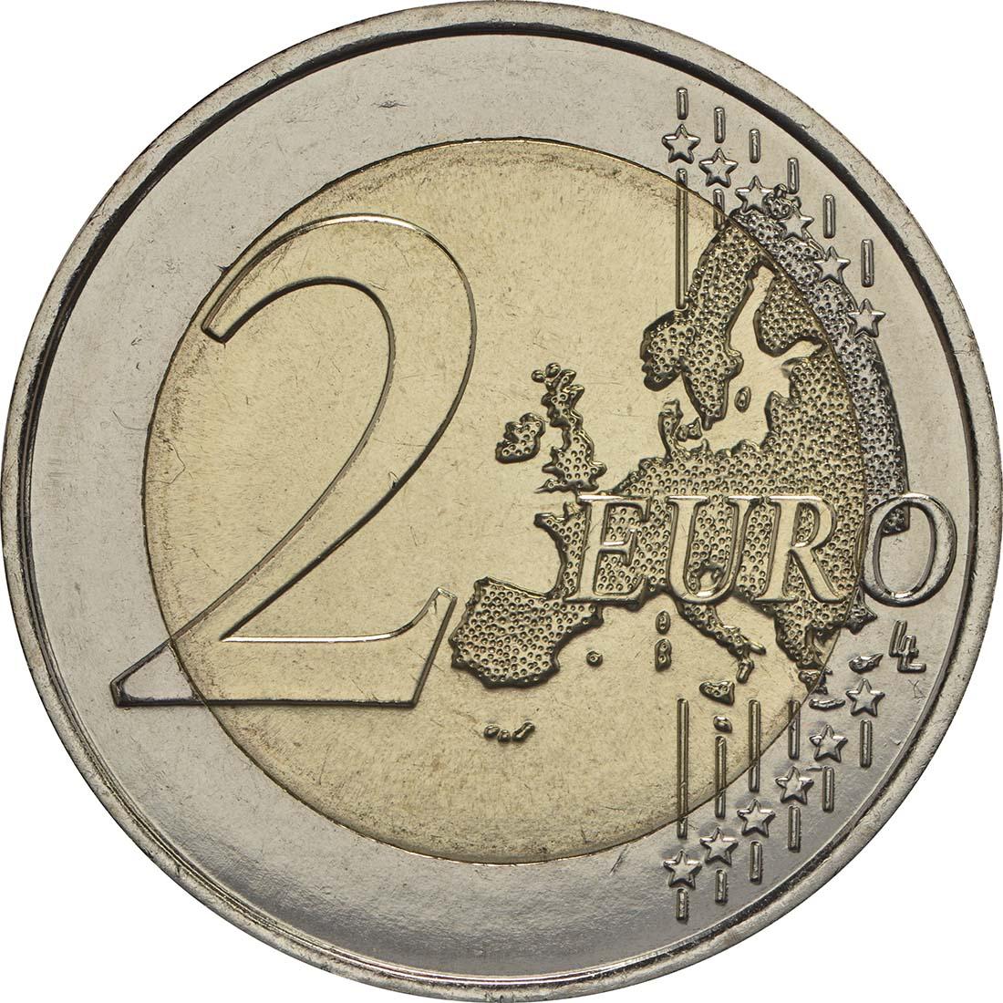 Vorderseite:Frankreich : 2 Euro Kornblume  2018 bfr