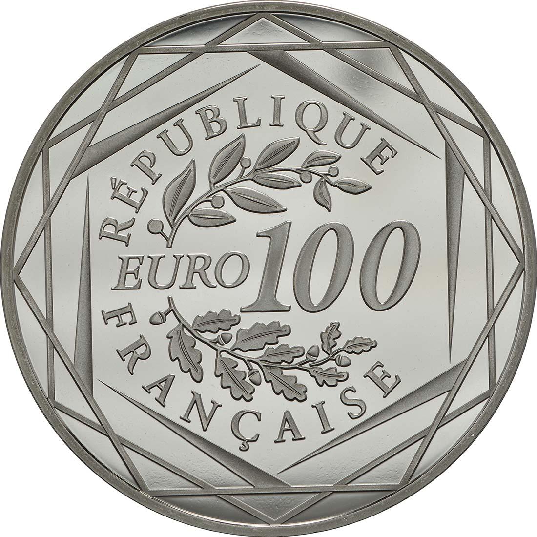 Rückseite:Frankreich : 100 Euro Waffenstillstand  2018 Stgl.