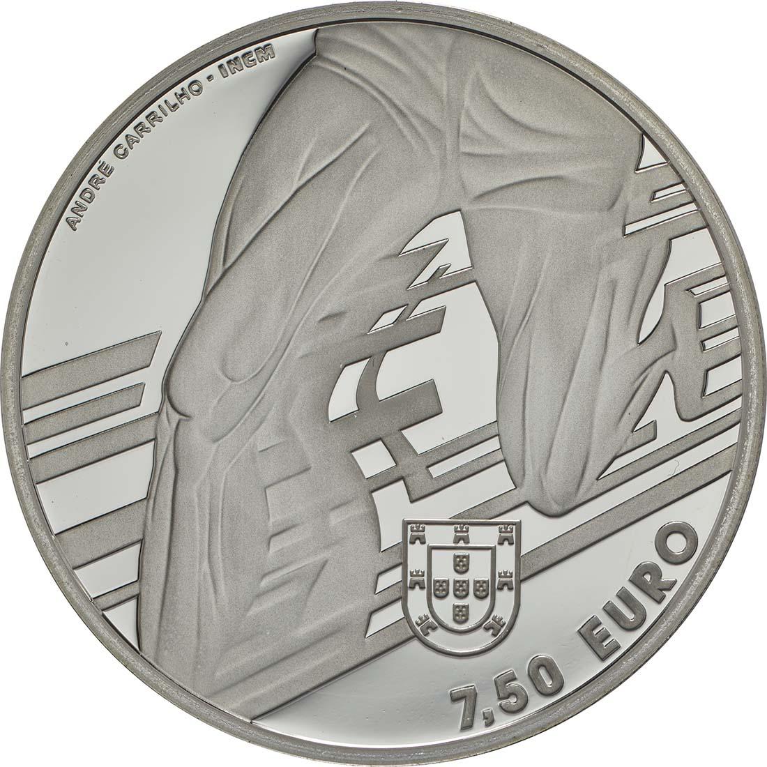 Rückseite:Portugal : 7,5 Euro Carlos Lopes  2017 PP