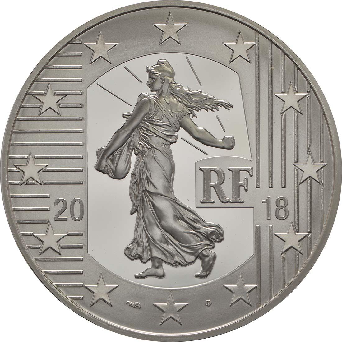 Rückseite:Frankreich : 10 Euro Ecu de 6 Livres  2018 PP