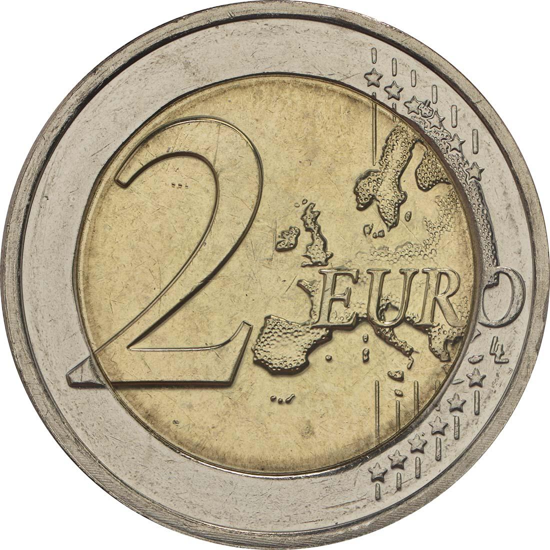 Vorderseite:Luxemburg : 2 Euro 150 Jahre Verfassung  2018 bfr