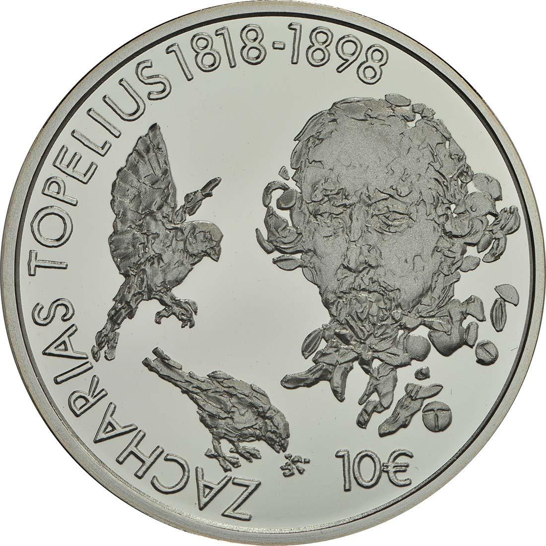 Rückseite:Finnland : 10 Euro 200. Geburtstag Zacharias Topelius  2018 PP