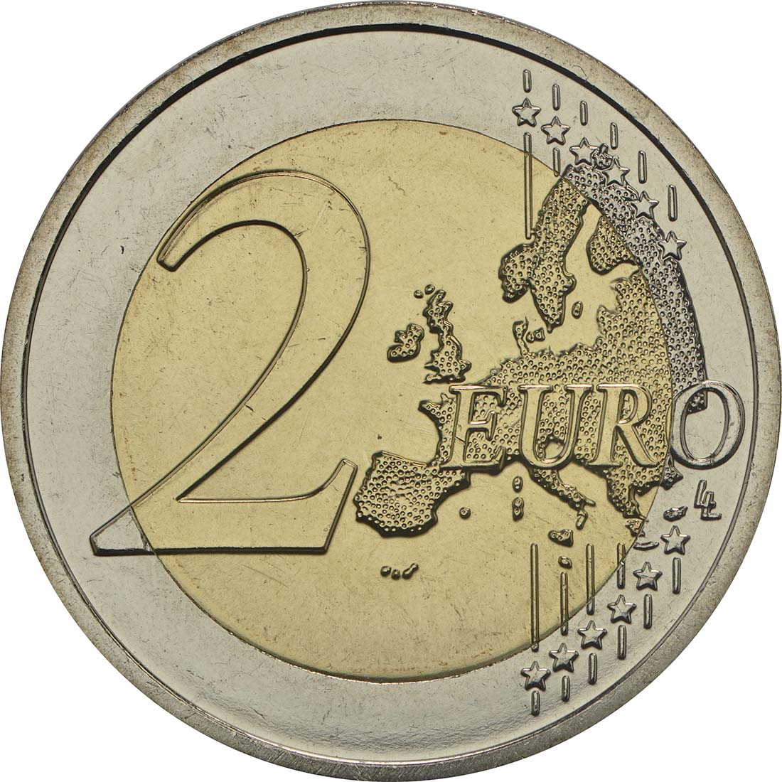Vorderseite:Slowakei : 2 Euro 25 Jahre Slowakische Republik  2018 bfr